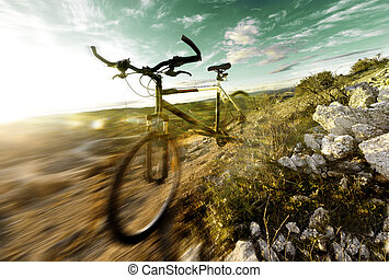 mountain bike and sport