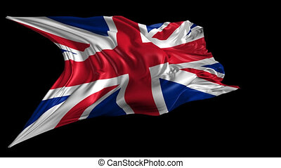 Flag of United Kingdom - Beautiful 3d animation of United...