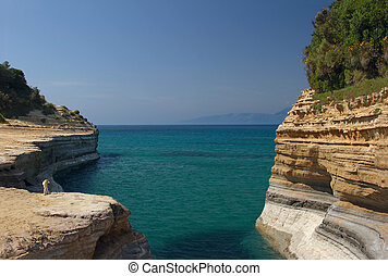 Seaview with sandstone cliffs