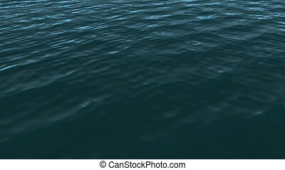 Blue Ocean - Computer generated image. HD 16:9 1920 x 1080 @...