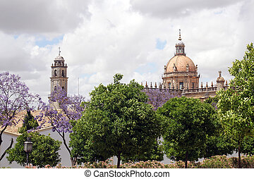 The Cathedral of San Salvador in Jerez de la Frontera, Spain...