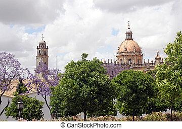 The Cathedral of San Salvador in Jerez de la Frontera, Spain...