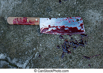 Knife with blood looks awesome.