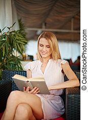 Female reader