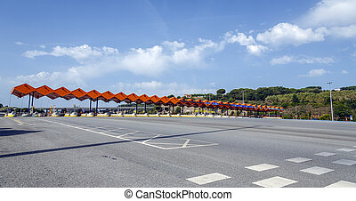 Customs toll road in Catalan Spain