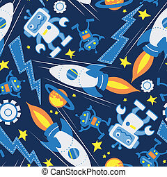 Space robot seamless pattern in space