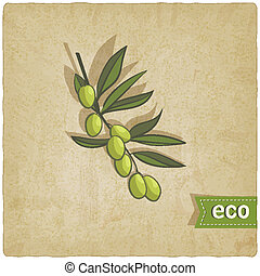 olive eco background - vector illustration. eps 10