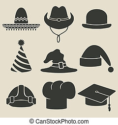 party hat icon - vector illustration. eps 8