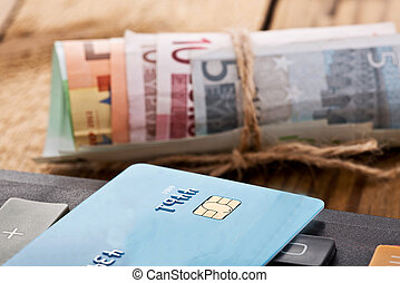 Euros Money - still life with euoro money and credit card