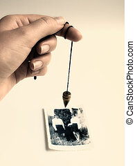 Contact with afterlife - Conceptual image about alternative...