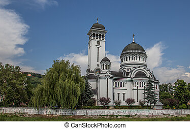 Orthodox cathedral in Transylvanian Sighisoara - Orthodox...