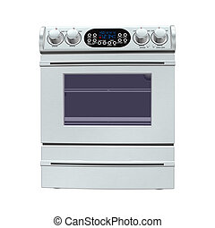 Oven - 3D digital render of an oven isolated on white...