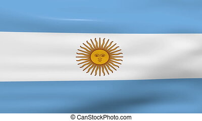 Waving Argentina Flag, loop ready - Waving Argentina Flag,...