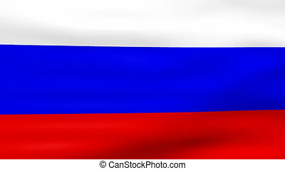 Waving Russia Flag, loop ready.