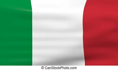 Waving Italy Flag, loop ready - Waving Italy Flag, ready for...