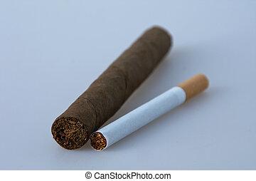 cigaret and cigar - cigaret