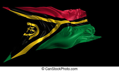 Flag of Vanuatu - Beautiful 3d animation of Vanuatu flag...