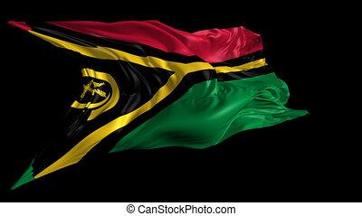 Flag of Vanuatu - Beautiful 3d animation of Vanuatu flag...