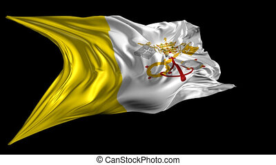 Flag of Vatican City - Beautiful 3d animation of Vatican...