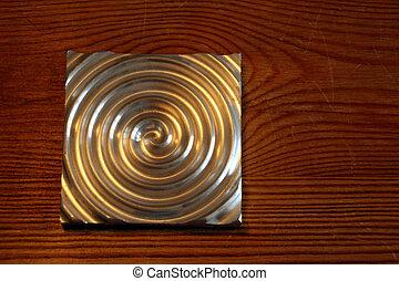 Labyrinth, aluminium circle - nice aluminium circle on a...