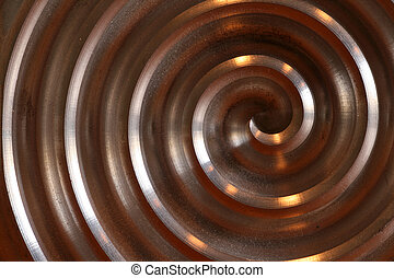 Labyrinth, aluminium circle - nice aluminium circle on a...