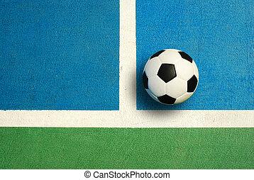 futsal, tribunal, interior, deporte