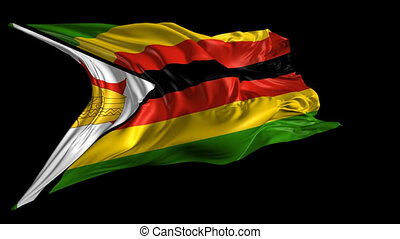 Flag of Zimbabwe - Beautiful 3d animation of Zimbabwe flag...