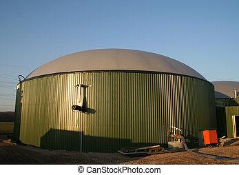 Biogas Plant - A building site of a biogas plant