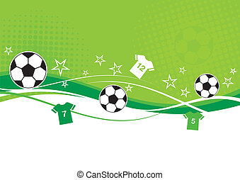 Football Background - Football background with shirts, stars...