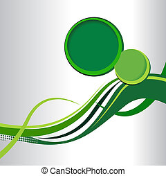Abstract green background with wave - brochure design or...