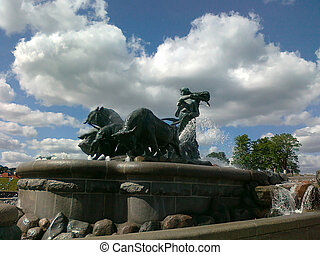 Gefion - popular fountain in Copenhagen, Denmark