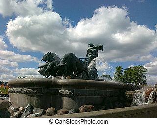 Gefion - popular fountain in Copenhagen, Denmark