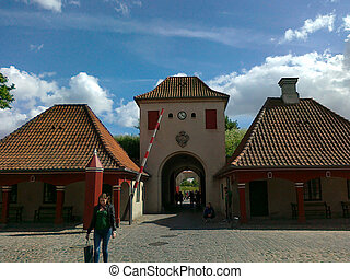 Gateway to the barracks (Kastellet) in Copenhagen, Denmark