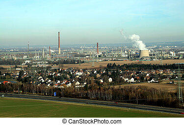 Aerial picture of industry near Cologne, germany