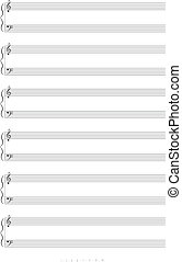 Blank A4 music notes