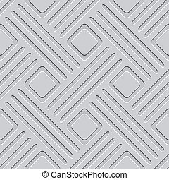 Gray embossed lines and squares seamless - Seamless abstract...