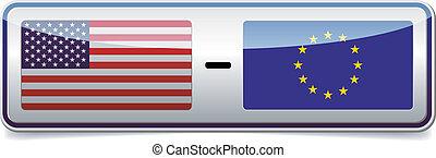 USA - EU sign