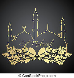eid mubarak design - stylish eid mubarak design illustration