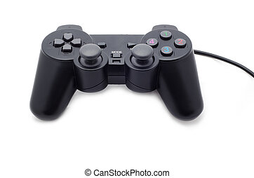 Game pad on white background, Joystick