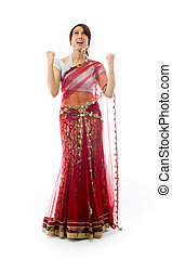 Young Indian woman looking frustrate - Adult indian woman in...