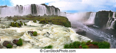 Iguazu waterfalls (Argentina and Brazil)