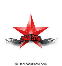 rosso, Stella, roccia, Stella, bandiera