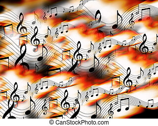 Musical Notes Background - Abstract Musical Notes Background
