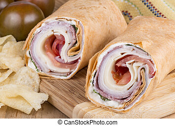 Wrap sandwich with Italian Meet