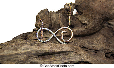 zircon infinity necklace on the natura