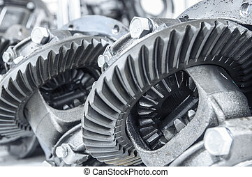 Gear transmission at a shallow dept