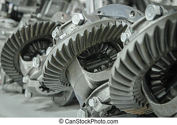 Gear transmission at a shallow depth of field