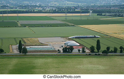 Biogas Power Plant from above