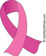 Pink AwarenessHopeSupport Ribbon - Print illustration of...