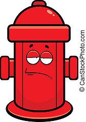 caricatura, fogo, hidrante, cansadas